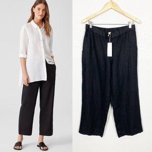 Eileen Fisher NWT Heavy Organic Linen Crop Pant S